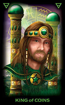 Roi of Coins Tarot Card - Tarot of Dreams Tarot Deck