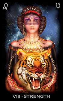 Strength Tarot Card - Tarot of Dreams Tarot Deck