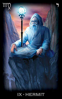 The Hermit Tarot Card - Tarot of Dreams Tarot Deck