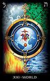 The World Tarot card in Tarot of Dreams Tarot deck
