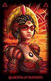 Queen of Wands Tarot card in Tarot of Dreams deck