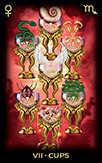 Seven of Cups Tarot card in Tarot of Dreams Tarot deck