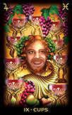 Nine of Cups Tarot card in Tarot of Dreams Tarot deck