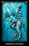 Knight of Cups Tarot card in Tarot of Dreams Tarot deck