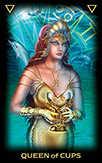 Queen of Cups Tarot card in Tarot of Dreams deck
