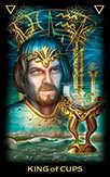 King of Cups Tarot card in Tarot of Dreams Tarot deck
