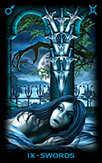 Nine of Swords Tarot card in Tarot of Dreams Tarot deck