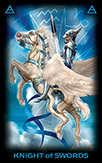 Knight of Swords Tarot card in Tarot of Dreams deck
