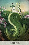 The Fool Tarot card in Tarot of Mystical Moments deck