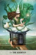 The Magician Tarot card in Tarot of Mystical Moments deck