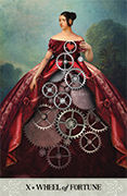 Wheel of Fortune Tarot card in Tarot of Mystical Moments deck