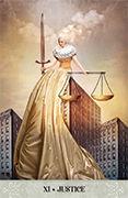 Justice Tarot card in Tarot of Mystical Moments deck