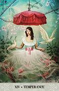 Temperance Tarot card in Tarot of Mystical Moments deck