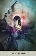 The Star Tarot card in Tarot of Mystical Moments deck