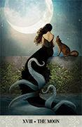 The Moon Tarot card in Tarot of Mystical Moments deck
