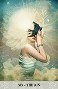 The Sun Tarot card in Tarot of Mystical Moments deck