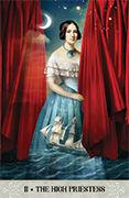 The High Priestess Tarot card in Tarot of Mystical Moments deck