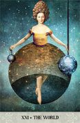 The World Tarot card in Tarot of Mystical Moments deck