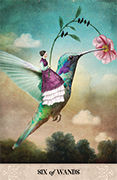 Six of Wands Tarot card in Tarot of Mystical Moments deck