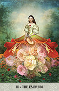 The Empress Tarot card in Tarot of Mystical Moments deck