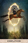 Knight of Wands Tarot card in Tarot of Mystical Moments deck
