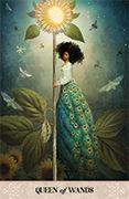 Queen of Wands Tarot card in Tarot of Mystical Moments deck