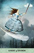 Knight of Swords Tarot card in Tarot of Mystical Moments deck