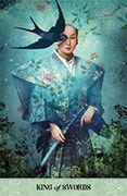 King of Swords Tarot card in Tarot of Mystical Moments deck
