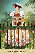 Four of Pentacles Tarot card in Tarot of Mystical Moments deck