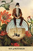 Ten of Pentacles Tarot card in Tarot of Mystical Moments deck