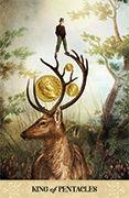 King of Pentacles Tarot card in Tarot of Mystical Moments deck