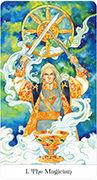 The Magician Tarot card in Tarot of the Golden Wheel deck
