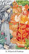 Wheel of Fortune Tarot card in Tarot of the Golden Wheel deck