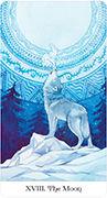 The Moon Tarot card in Tarot of the Golden Wheel deck