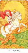 The Sun Tarot card in Tarot of the Golden Wheel deck