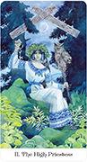 The High Priestess Tarot card in Tarot of the Golden Wheel deck