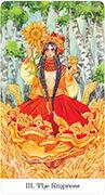 The Empress Tarot card in Tarot of the Golden Wheel deck