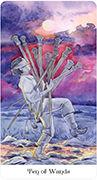 Ten of Wands Tarot card in Tarot of the Golden Wheel deck