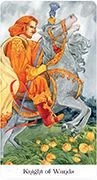 Knight of Wands Tarot card in Tarot of the Golden Wheel deck