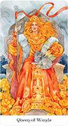 Queen of Wands Tarot card in Tarot of the Golden Wheel deck