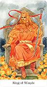 King of Wands Tarot card in Tarot of the Golden Wheel deck