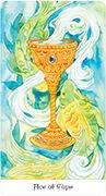 Ace of Cups Tarot card in Tarot of the Golden Wheel deck