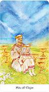 Six of Cups Tarot card in Tarot of the Golden Wheel deck