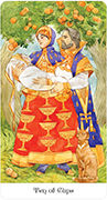 Ten of Cups Tarot card in Tarot of the Golden Wheel deck
