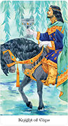 Knight of Cups Tarot card in Tarot of the Golden Wheel deck