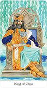 King of Cups Tarot card in Tarot of the Golden Wheel deck
