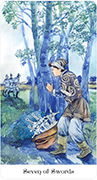 Seven of Swords Tarot card in Tarot of the Golden Wheel deck