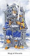 King of Swords Tarot card in Tarot of the Golden Wheel deck
