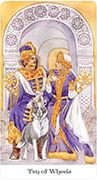 Ten of Wheels Tarot card in Tarot of the Golden Wheel deck