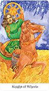 Knight of Wheels Tarot card in Tarot of the Golden Wheel deck